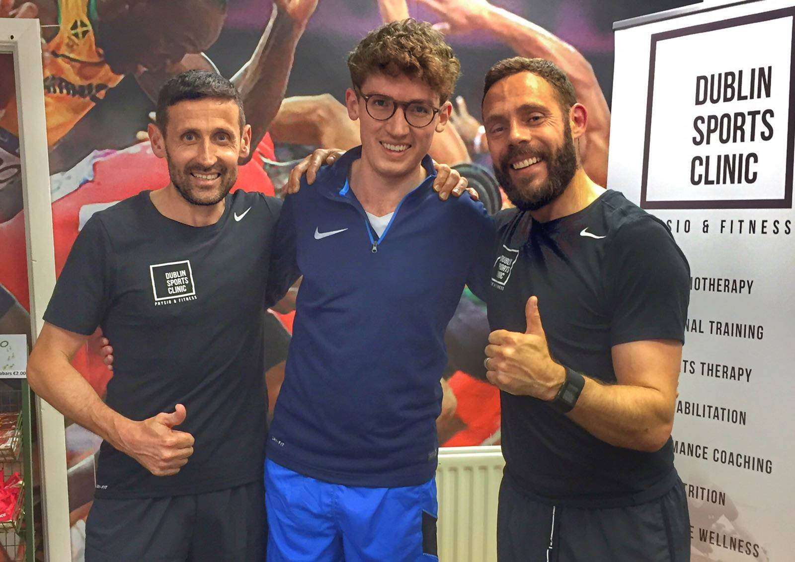Young professional starts fitness training with two former elite athletes.