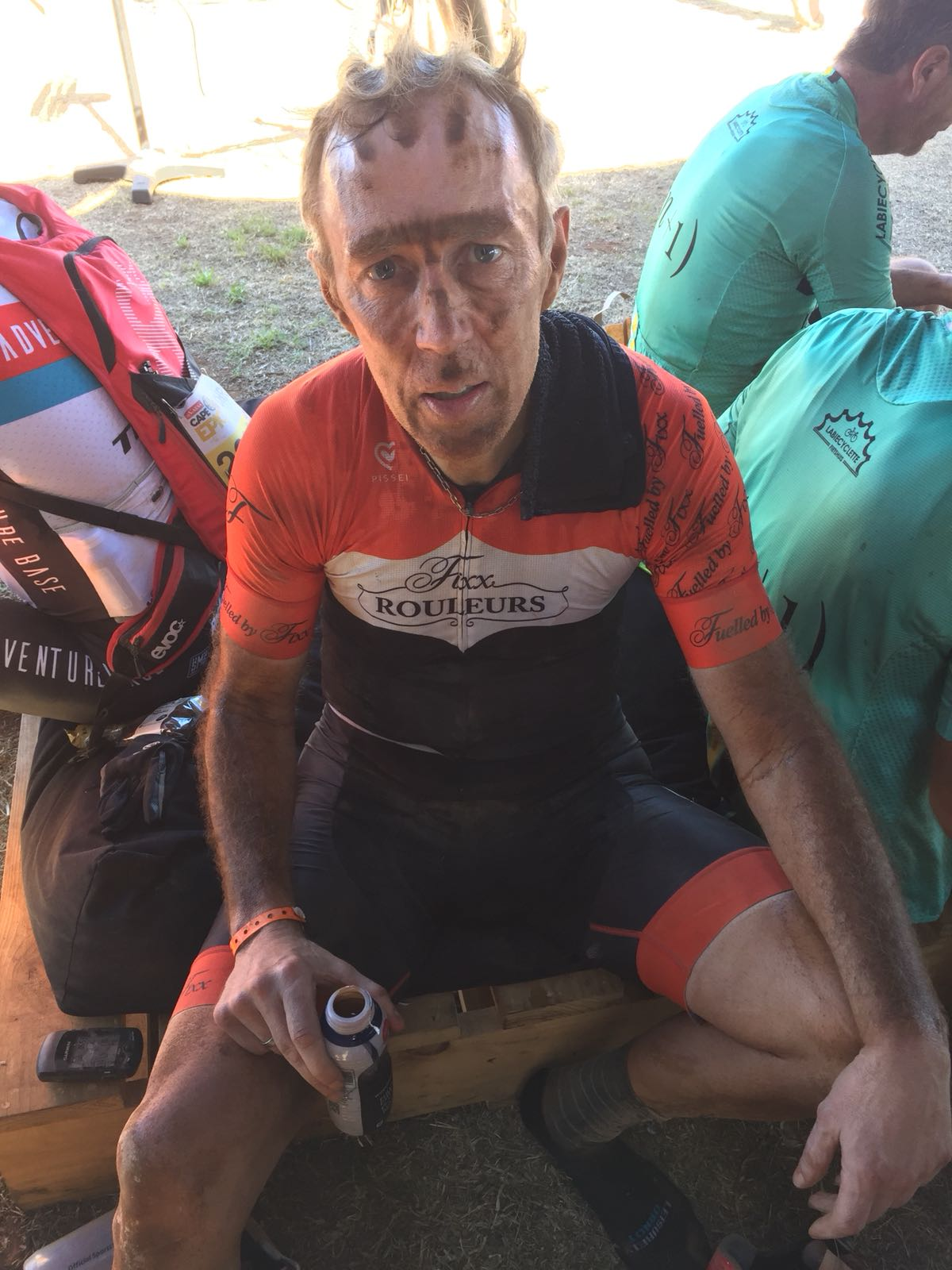 Robert Kehoe covered in muck after completing Cape Epic 2018
