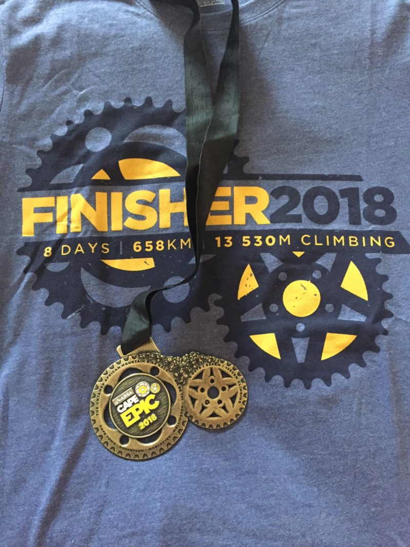 Cape Epic 2018 Finshers Medal and Tshirt
